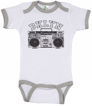 Load image into Gallery viewer, BKLYN Boombox / Brooklyn Ringer Onesie