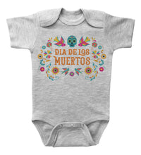 Load image into Gallery viewer, Day Of The Dead - Flowers / Dia De Los Muertos / Basic Onesie