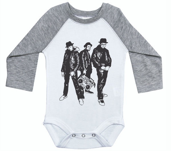 RUN DMC / HIP HOP Inspired Raglan Onesie