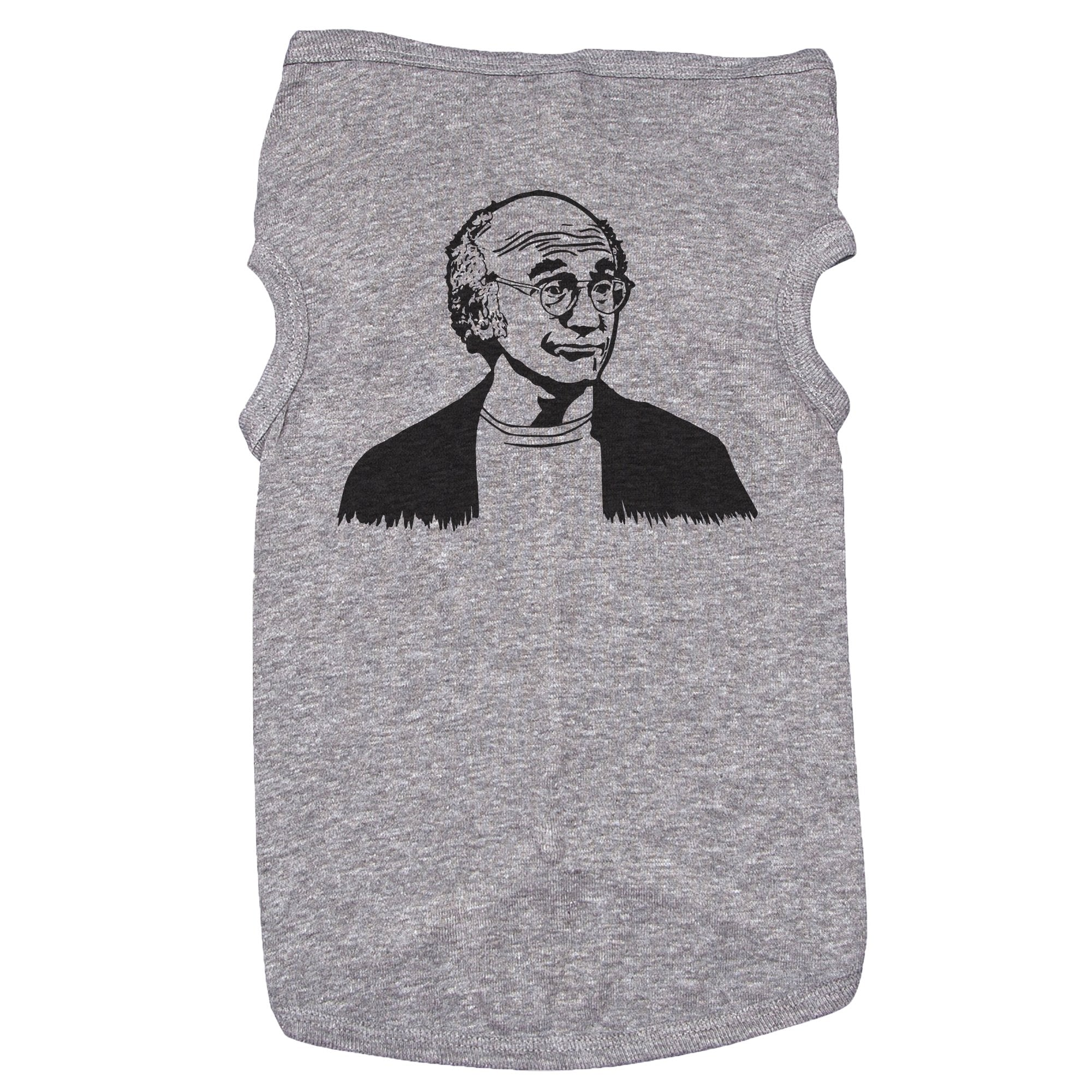 Grey Dog T-Shirt with Larry David Graphic