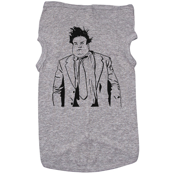 Grey Dog T-Shirt with Chris Farley Graphic