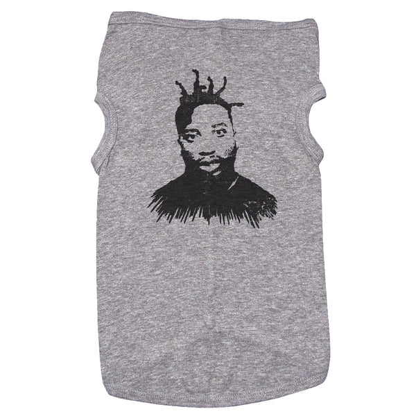 Grey Dog T-Shirt with Ol' Dirty Bastard Graphic