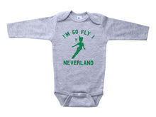 Load image into Gallery viewer, Neverland / I'm So Fly I Neverland Baby Onesie