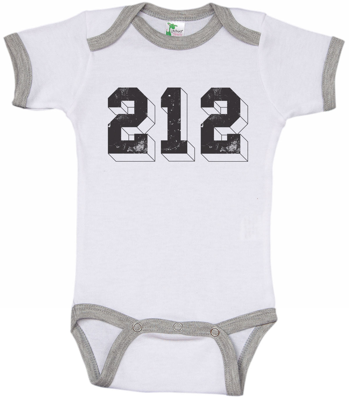 212 / New York Inspired Ringer Onesie