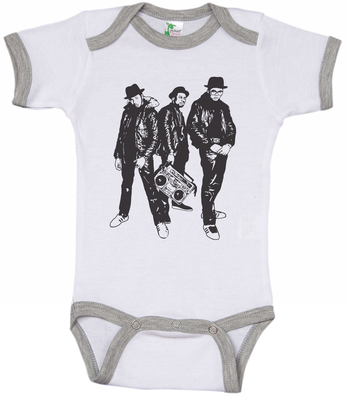 RUN DMC / HIP HOP Inspired Ringer Onesie