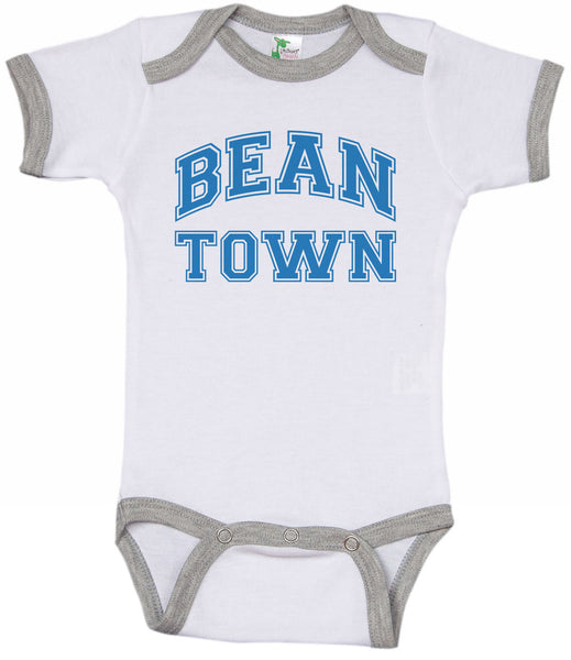 BEAN TOWN / Boston Inspired Ringer Onesie