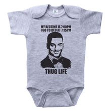 Load image into Gallery viewer, MY BEDTIME IS 7PM...THUG LIFE / My Bedtime Is 7pm...Thug Life Baby Onesie