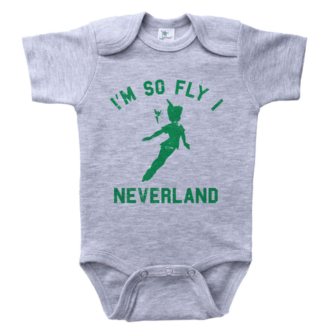Neverland / I'm So Fly I Neverland Baby Onesie
