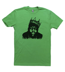 Green Adult Unisex T-Shirt with Biggie Smalls Graphic