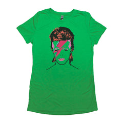 Green Adult Women's T-Shirt with Biggie Smalls Graphic