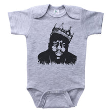 Load image into Gallery viewer, Grey Onesie with Biggie Smalls Graphic