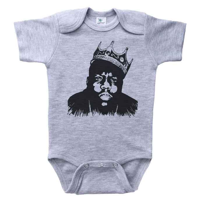 Grey Onesie with Biggie Smalls Graphic