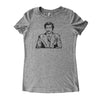 Adult Women's T-Shirt with Ron Burgundy Graphic