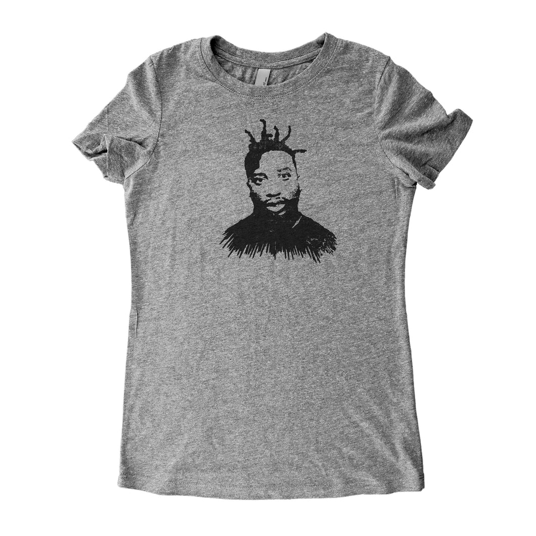 Grey Adult Women's T-Shirt with Ol' Dirty Bastard Graphic