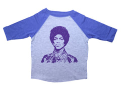 PURPLE PRINCE  / Purple Prince Raglan Baseball Shirt for Toddlers