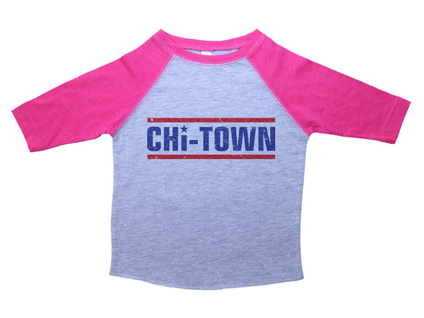 CHI-TOWN / Chicago Baby Raglan Baseball Shirt