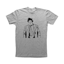 Load image into Gallery viewer, Heather Grey Adult Unisex T-Shirt with Chris Farley Graphic