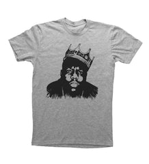 Heather Grey Adult Unisex T-Shirt with Biggie Smalls Graphic