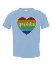 Load image into Gallery viewer, Pride Rainbow Heart / Toddler / Youth Crew Neck