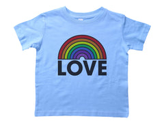 LOVE / Rainbow Love Crew Neck Short Sleeve Toddler Shirt