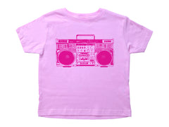 PINK BOOMBOX / Pink Boombox Crew Neck Short Sleeve Toddler Shirt
