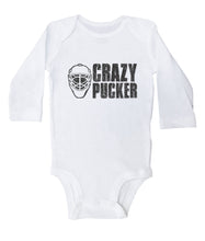 Load image into Gallery viewer, Crazy Pucker / Basic Hockey Onesie