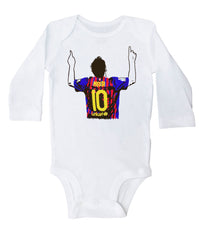 MESSI POINTING / Messi Pointing Baby Onesie