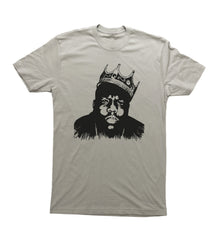 Light Grey Adult Unisex T-Shirt with Biggie Smalls Graphic