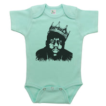 Load image into Gallery viewer, Mint Onesie with Biggie Smalls Graphic