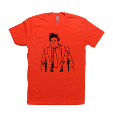 Load image into Gallery viewer, Orange Adult Unisex T-Shirt with Chris Farley Graphic