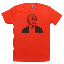 Load image into Gallery viewer, Orange Adult Unisex T-Shirt with Larry David Graphic