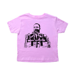 A short sleeve toddler shirt with Martin Luther King in the middle giving his