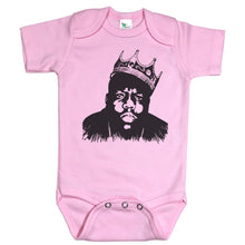 Load image into Gallery viewer, Pink Onesie with Biggie Smalls Graphic