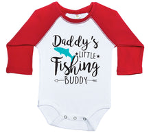 Load image into Gallery viewer, Daddy's Little Fishing Buddy / Raglan Onesie / Long Sleeve