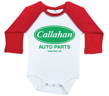 Load image into Gallery viewer, Callahan Auto Parts / Raglan Onesie / Long Sleeve