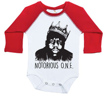 Load image into Gallery viewer, Notorious O.N.E. / Raglan Onesie / Long Sleeve