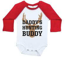 Load image into Gallery viewer, Daddy's Hunting Buddy / Raglan Onesie / Long Sleeve