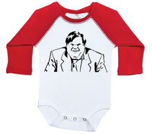 Load image into Gallery viewer, Chris Farley - Giggles / Raglan Onesie / Long Sleeve