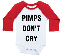 Load image into Gallery viewer, Pimps Don't Cry / Raglan Onesie / Long Sleeve