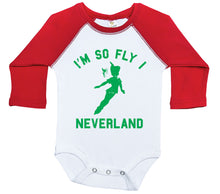 Load image into Gallery viewer, I'm So Fly I Neverland / Raglan Onesie / Long Sleeve