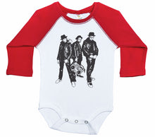 Load image into Gallery viewer, RUN DMC / HIP HOP Inspired Raglan Onesie