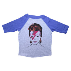 Blue & Grey Toddler Raglan T-Shirt with Biggie Smalls Graphic