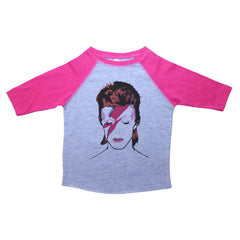 Pink & Grey White Toddler Raglan T-Shirt with Biggie Smalls Graphic