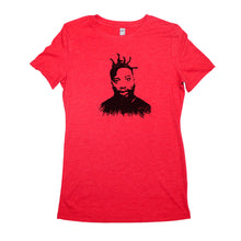 Load image into Gallery viewer, Red Adult Women's T-Shirt with Ol' Dirty Bastard Graphic