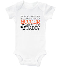 Load image into Gallery viewer, Daddy's Little Hockey Buddy / Basic Onesie
