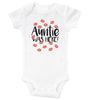 AUNTIE WAS HERE - BABY BODYSUIT - SHORT SLEEVE/LONG SLEEVE