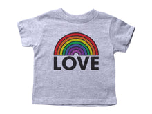 Load image into Gallery viewer, LOVE / Rainbow Love Crew Neck Short Sleeve Toddler Shirt