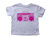 Load image into Gallery viewer, PINK BOOMBOX / Pink Boombox Crew Neck Short Sleeve Toddler Shirt