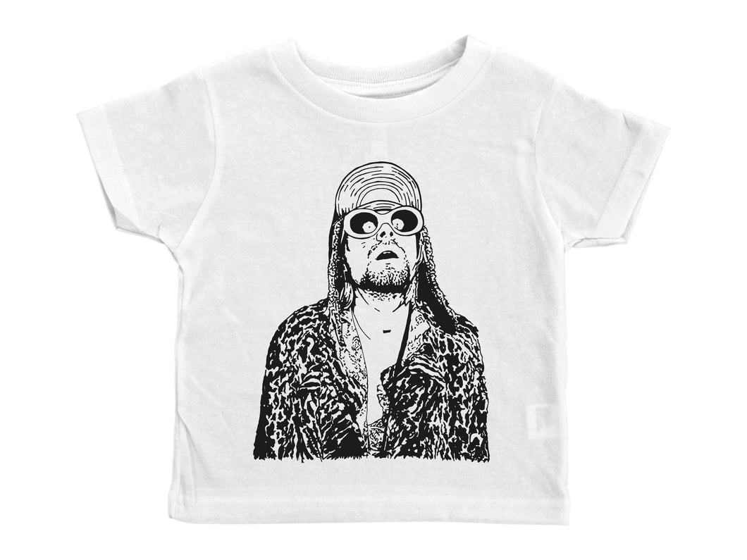 Kurt Cobain / Kurt Cobain Crew Neck Short Sleeve Toddler Shirt