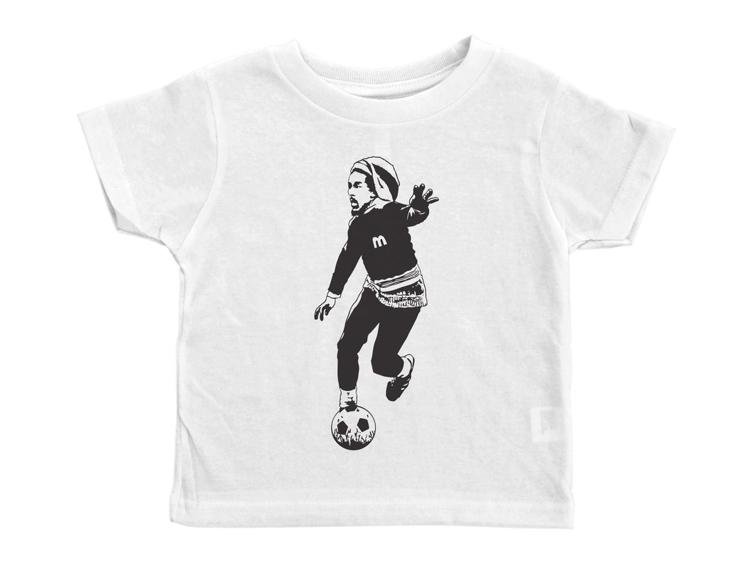MARLEY / Bob Marley Playing Soccer Crew Neck Short Sleeve Toddler Shirt